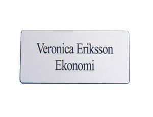 Name badge square