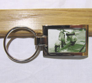 Key ring with a printed picture
