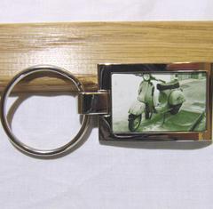 Nyckelring med bild polerad