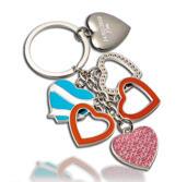 Nyckelring med hjärtan