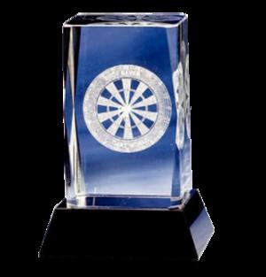 Dart - 3D glass on a base