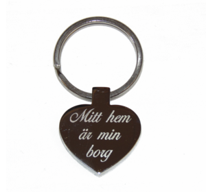 Key chain with heart