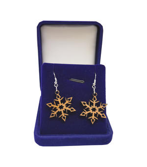 Earrings snow flake