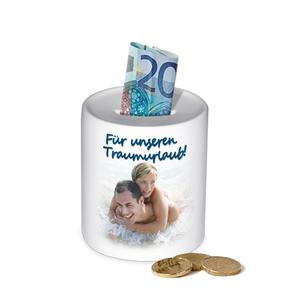 Savings box with picture