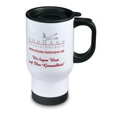 White take away mug